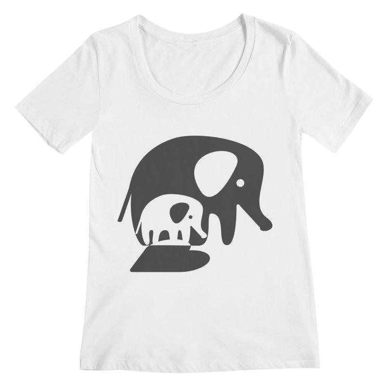 Love Elephants Women's Regular Scoop Neck by Avo G'day!