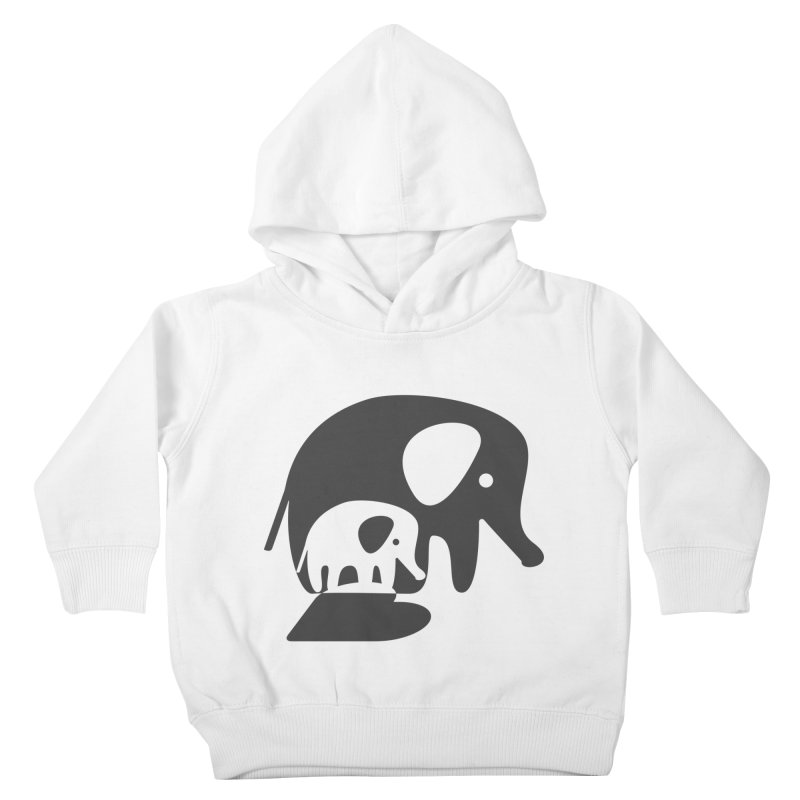 Love Elephants Kids Toddler Pullover Hoody by Avo G'day!