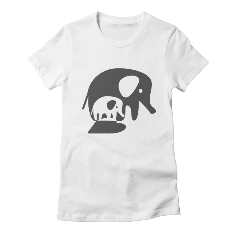Love Elephants Women's Fitted T-Shirt by Avo G'day!