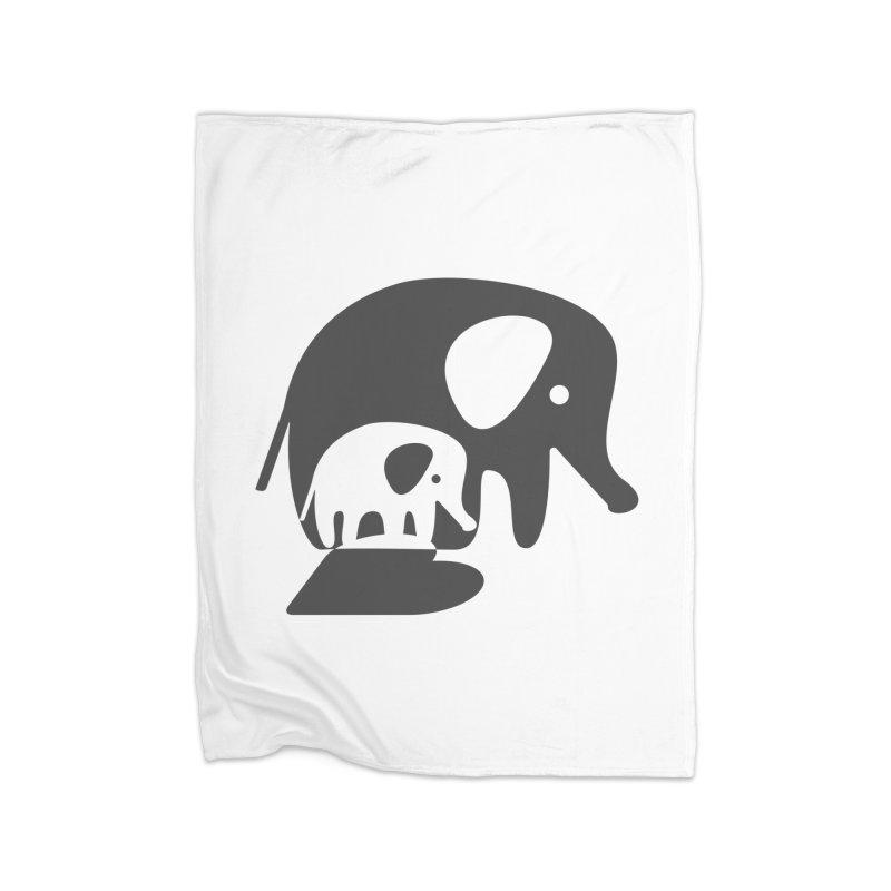 Love Elephants Home Fleece Blanket Blanket by Avo G'day!