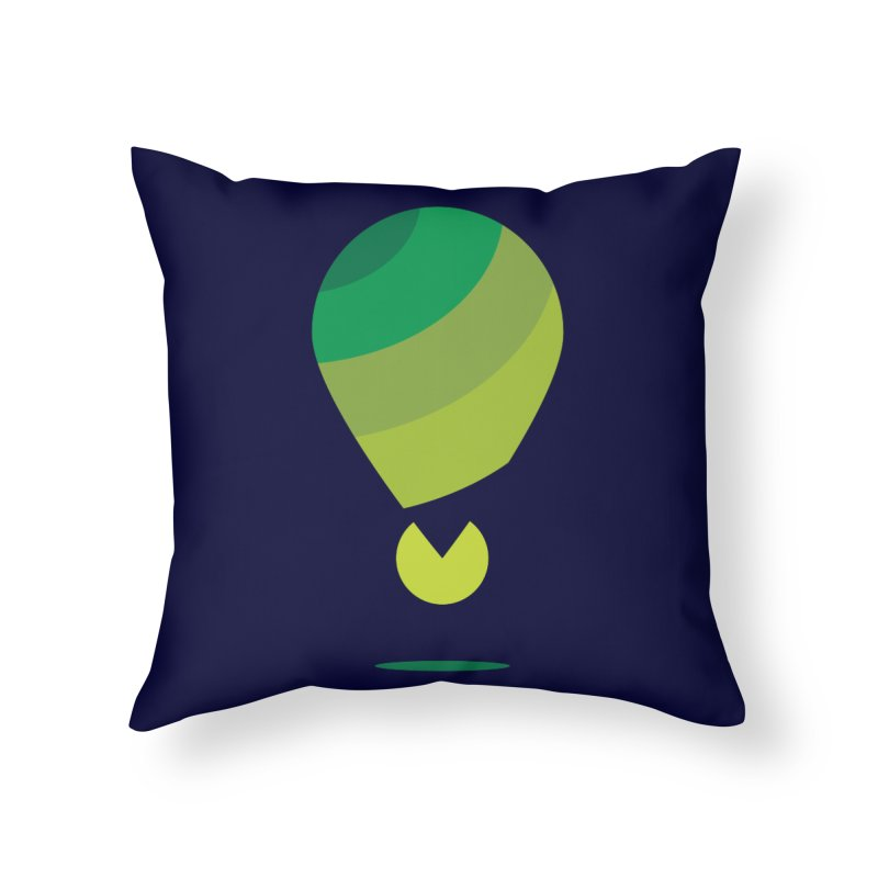 Midnight Hot Air Balloon Home Throw Pillow by Avo G'day!