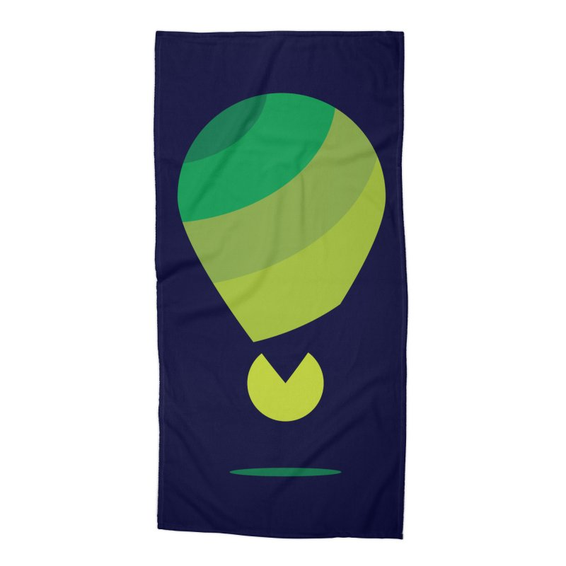 Midnight Hot Air Balloon Accessories Beach Towel by Avo G'day!