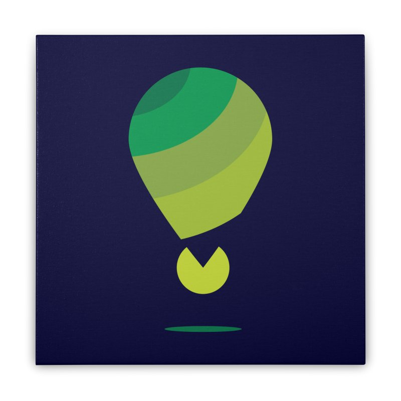 Midnight Hot Air Balloon Home Stretched Canvas by Avo G'day!