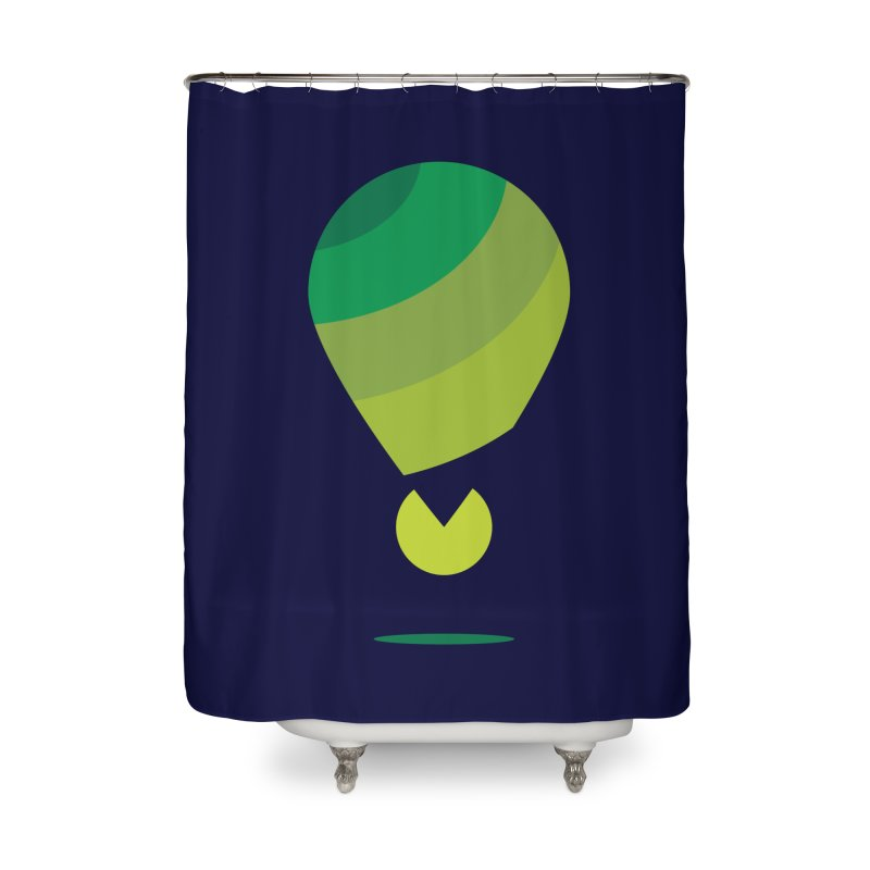 Midnight Hot Air Balloon Home Shower Curtain by Avo G'day!