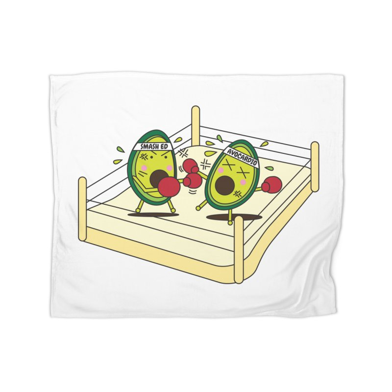 Smashed Avocado on Toast Home Fleece Blanket Blanket by Avo G'day!