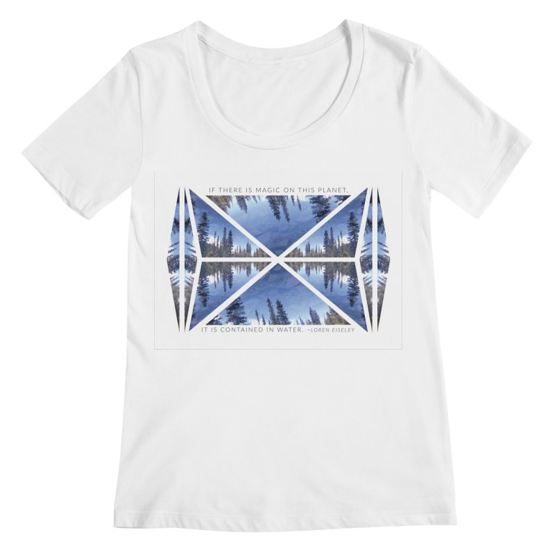 Magic in the Water Women's Scoopneck by Graphic Art by Sarah Sorden