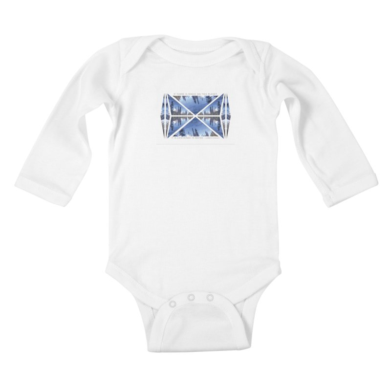 Magic in the Water Kids Baby Longsleeve Bodysuit by Graphic Art by Sarah Sorden