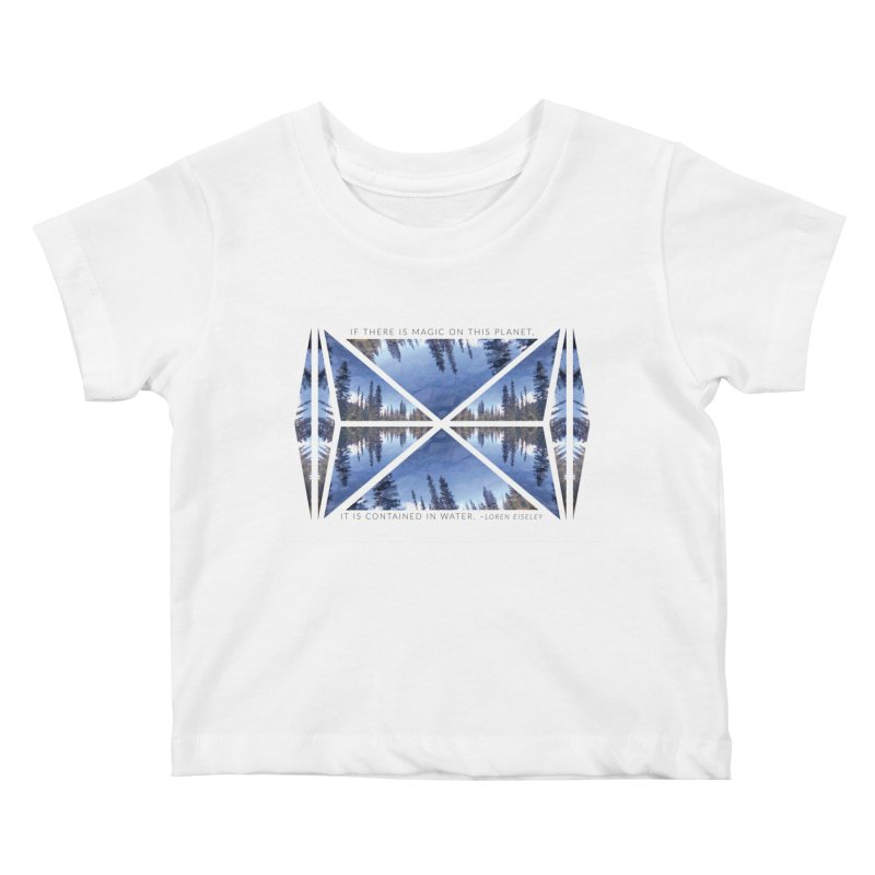 Magic in the Water Kids Baby T-Shirt by Graphic Art by Sarah Sorden