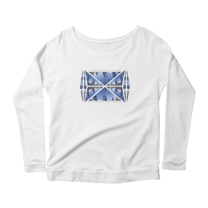 Magic in the Water Women's Longsleeve Scoopneck  by Graphic Art by Sarah Sorden