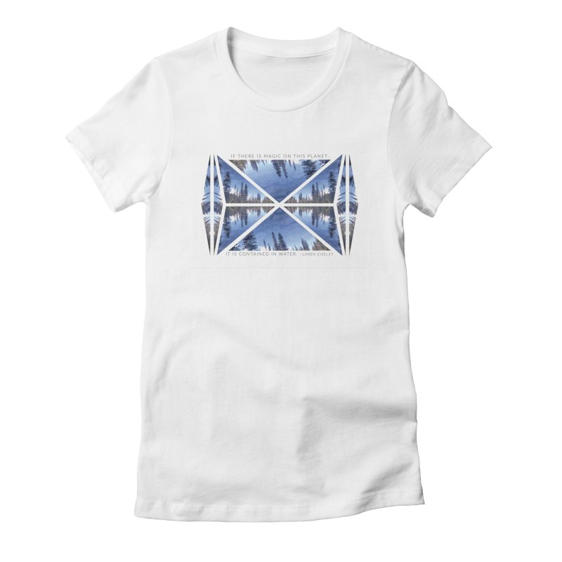 Magic in the Water Women's Fitted T-Shirt by Graphic Art by Sarah Sorden