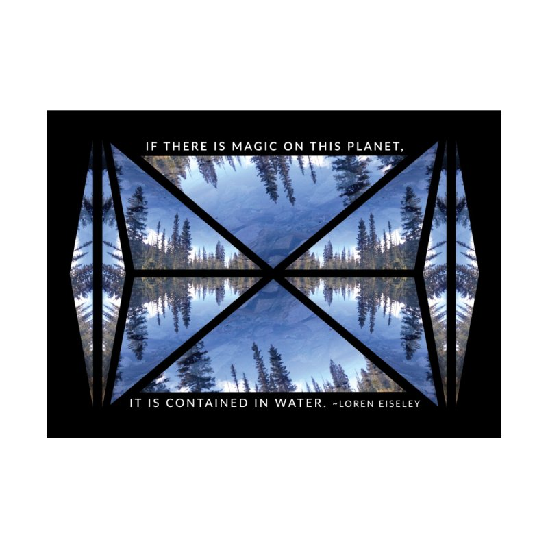 Magic in the Water - Black Home Framed Fine Art Print by Graphic Art by Sarah Sorden