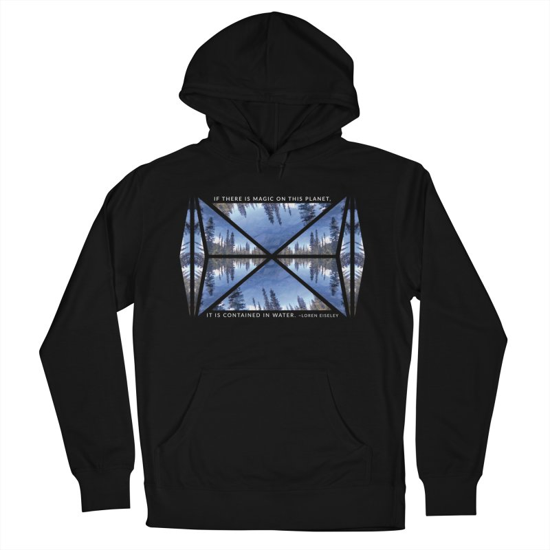 Magic in the Water - Black Women's Pullover Hoody by Graphic Art by Sarah Sorden