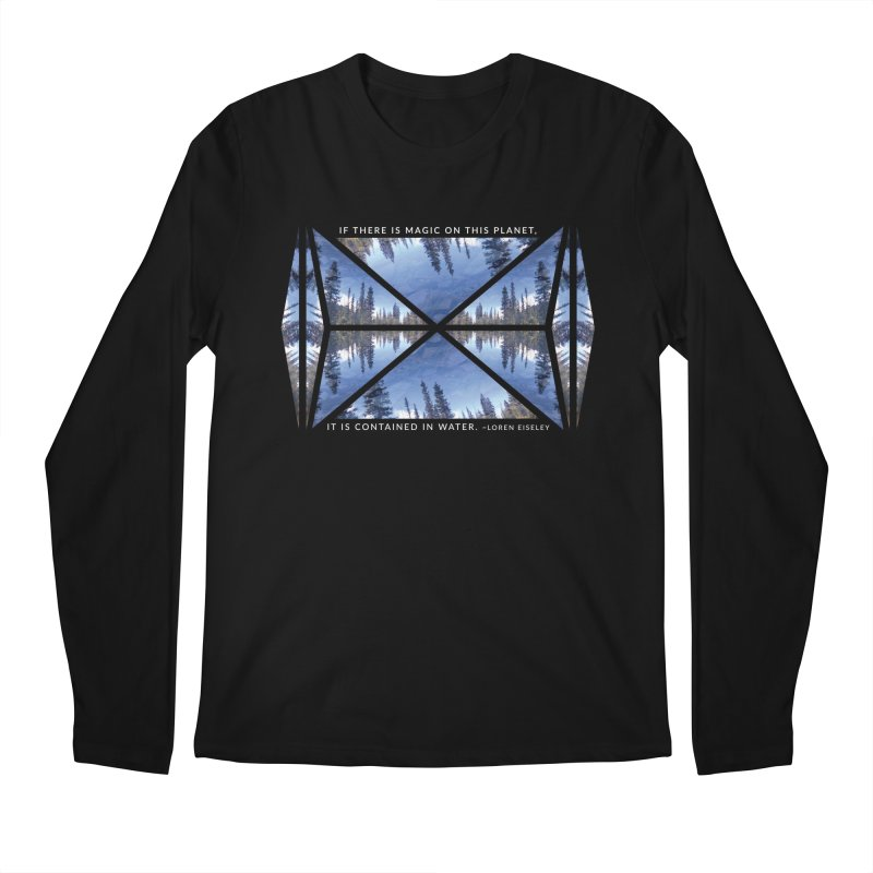 Magic in the Water - Black Men's Longsleeve T-Shirt by Graphic Art by Sarah Sorden