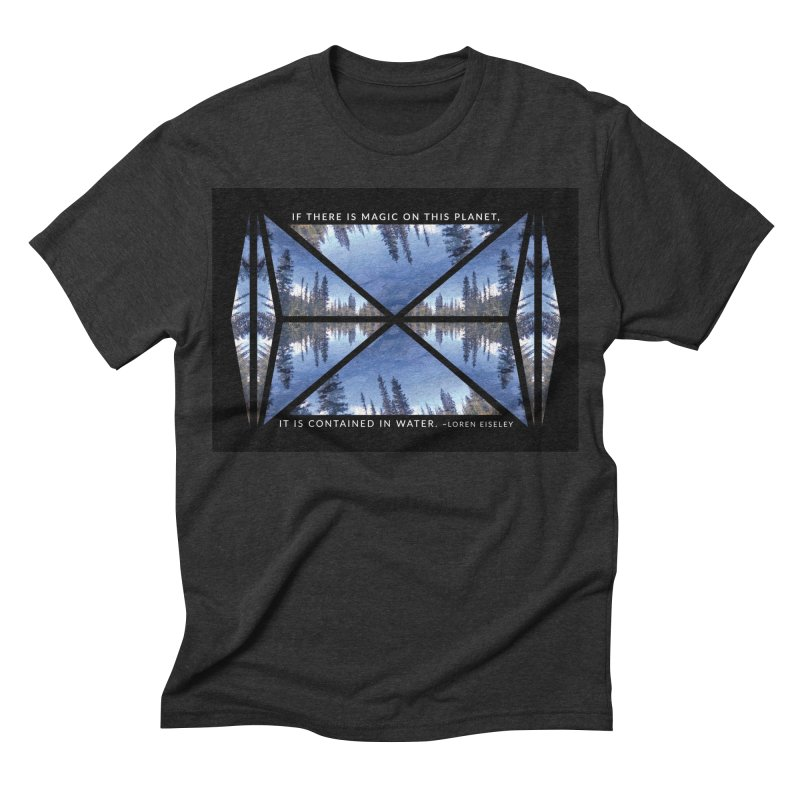 Magic in the Water - Black Men's Triblend T-shirt by Graphic Art by Sarah Sorden