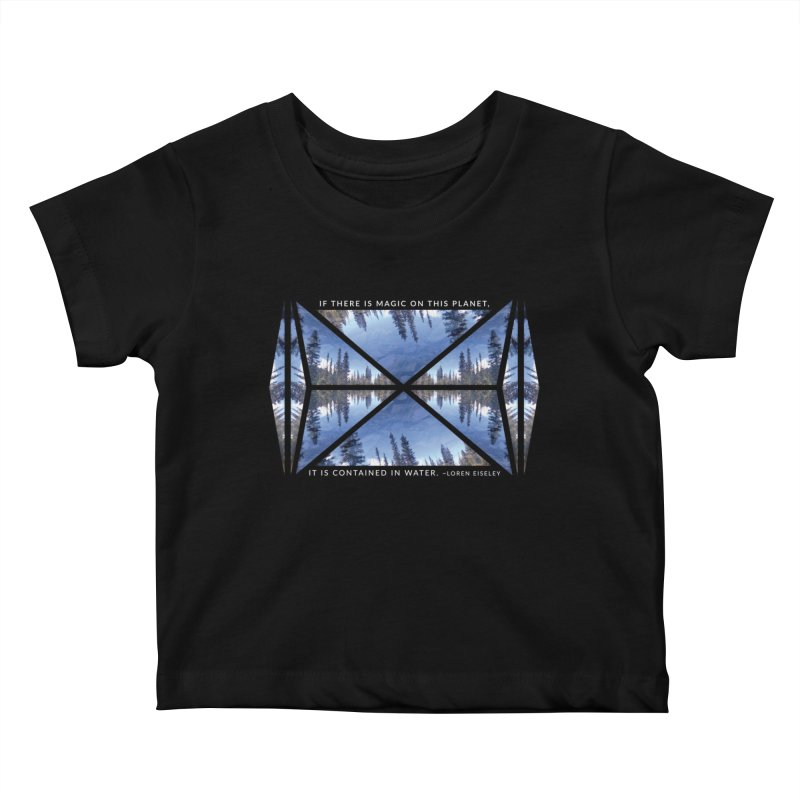 Magic in the Water - Black Kids Baby T-Shirt by Graphic Art by Sarah Sorden
