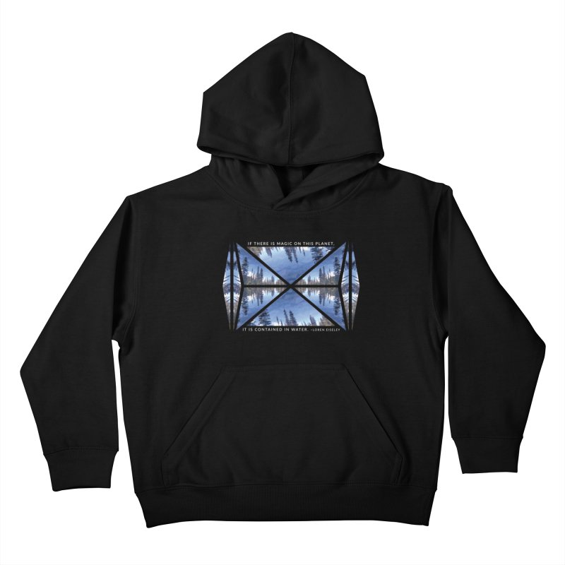 Magic in the Water - Black Kids Pullover Hoody by Graphic Art by Sarah Sorden