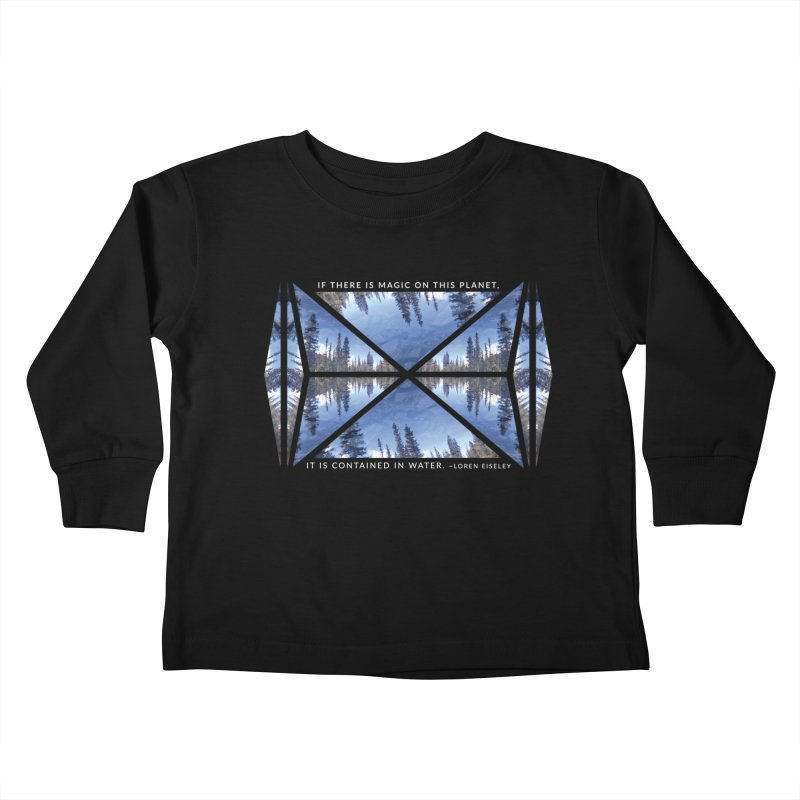 Magic in the Water - Black Kids Toddler Longsleeve T-Shirt by Graphic Art by Sarah Sorden