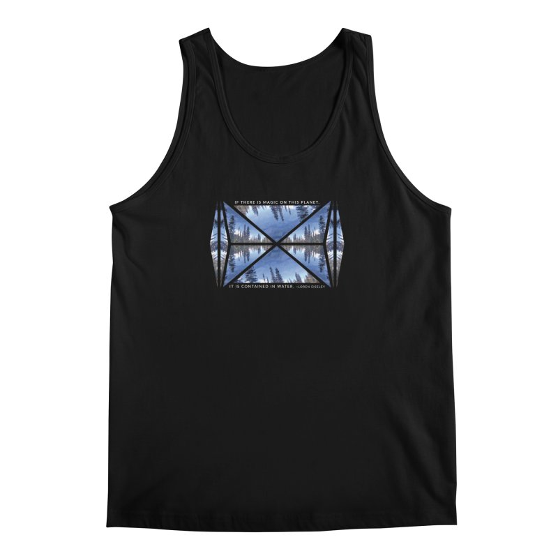 Magic in the Water - Black Men's Tank by Graphic Art by Sarah Sorden