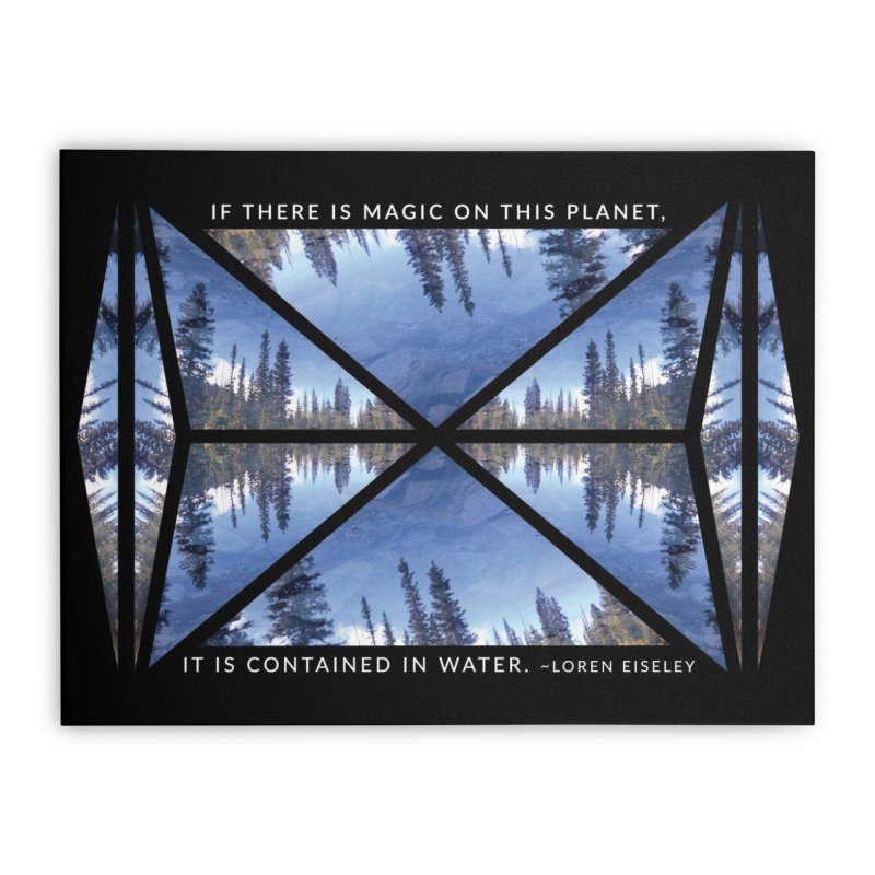 Magic in the Water - Black Home Stretched Canvas by Graphic Art by Sarah Sorden