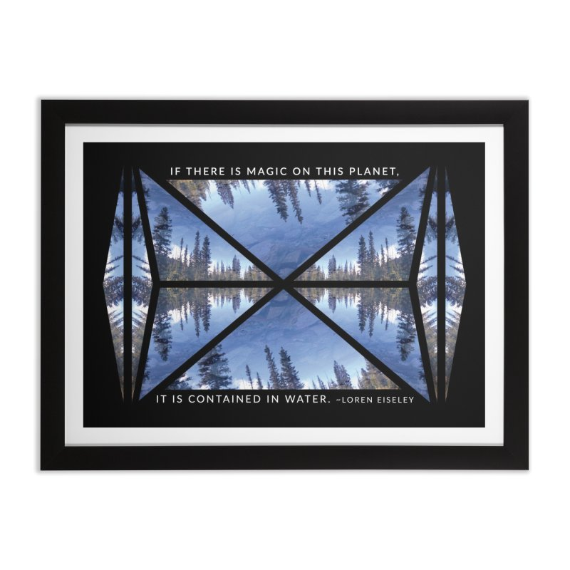 Magic in the Water - Black in Framed Fine Art Print Black by Graphic Art by Sarah Sorden