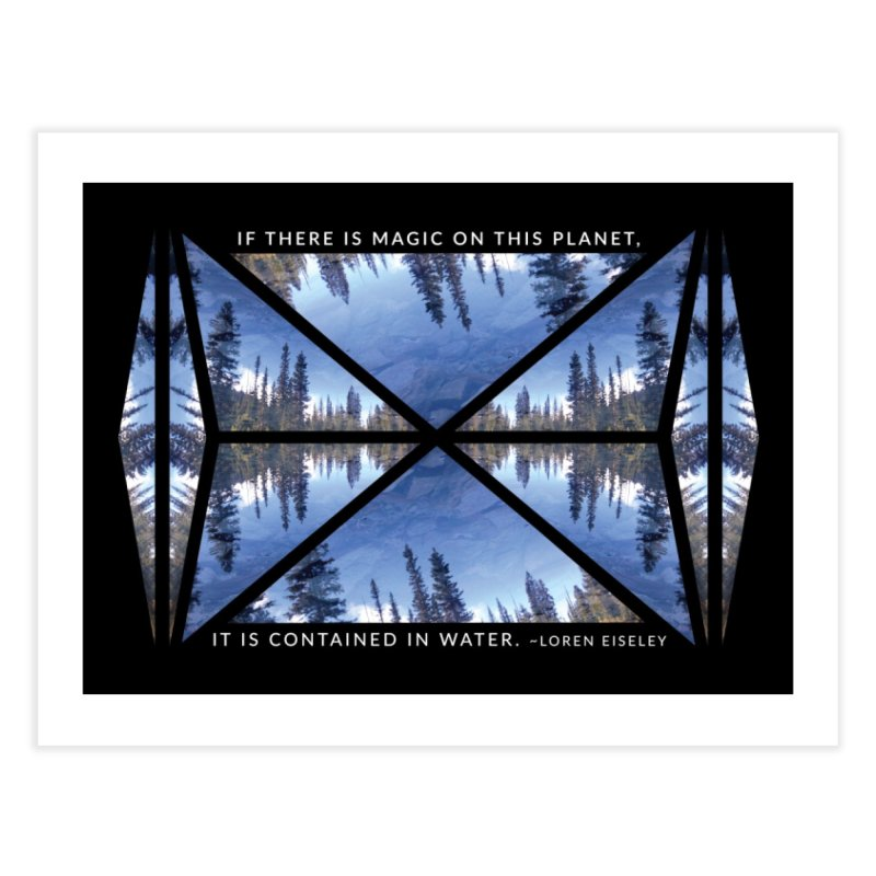 Magic in the Water - Black Home Fine Art Print by Graphic Art by Sarah Sorden