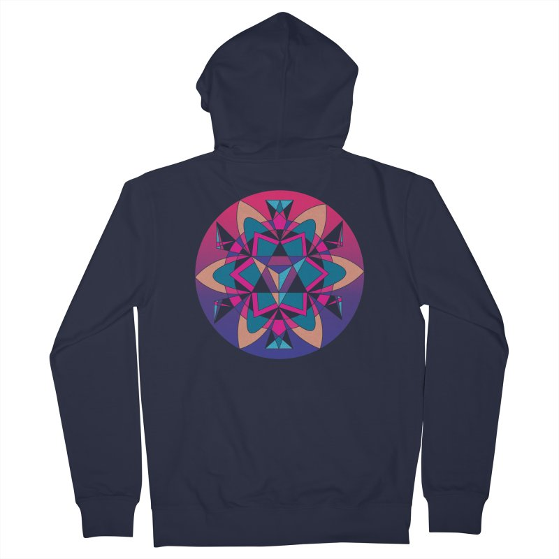 New Mexico Men's Zip-Up Hoody by Graphic Art by Sarah Sorden