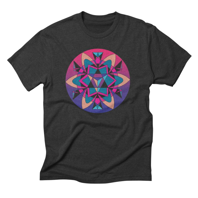 New Mexico Men's Triblend T-Shirt by Graphic Art by Sarah Sorden