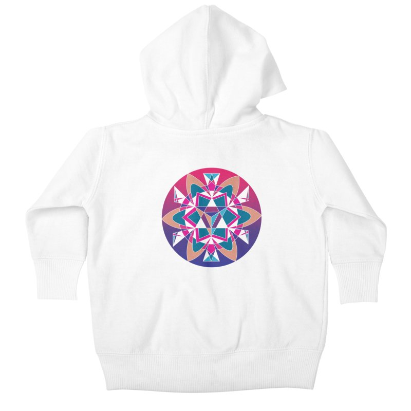 New Mexico Kids Baby Zip-Up Hoody by Graphic Art by Sarah Sorden