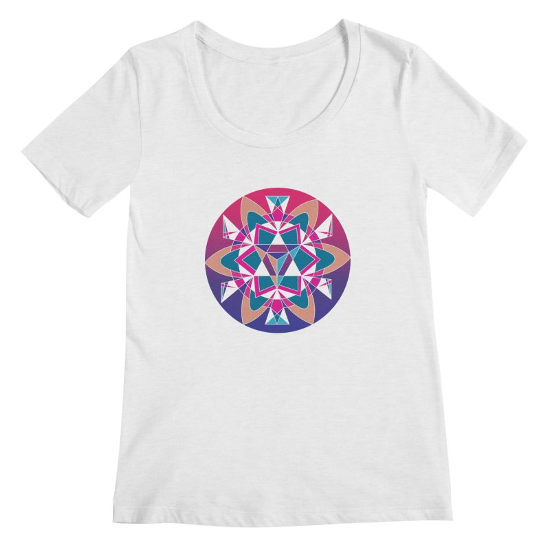 New Mexico Women's Scoopneck by Graphic Art by Sarah Sorden