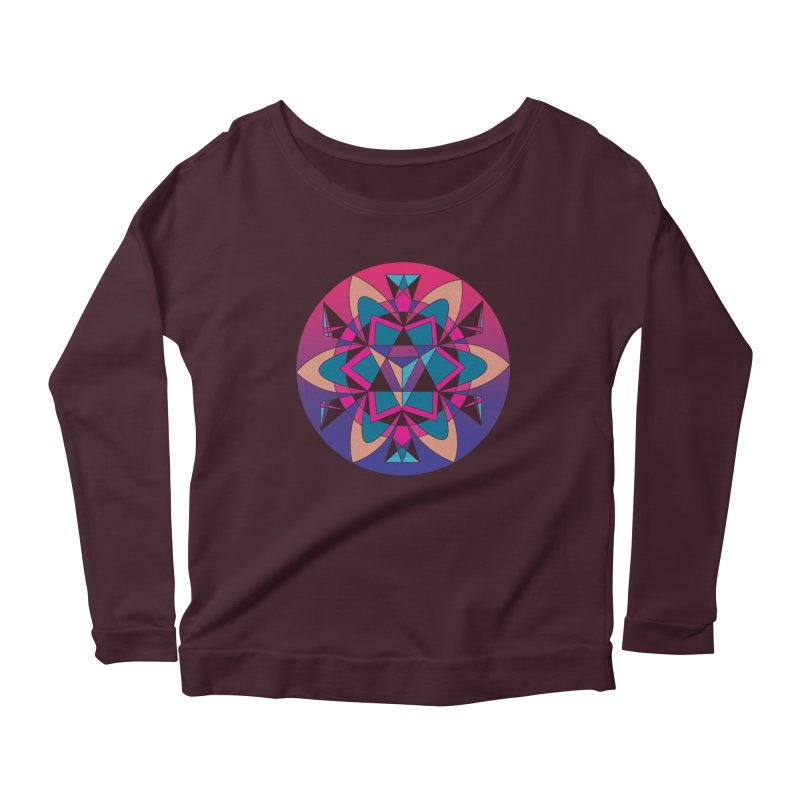 New Mexico Women's Longsleeve Scoopneck  by Graphic Art by Sarah Sorden