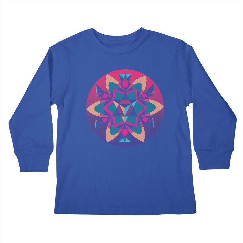 New Mexico Kids Longsleeve T-Shirt by Graphic Art by Sarah Sorden