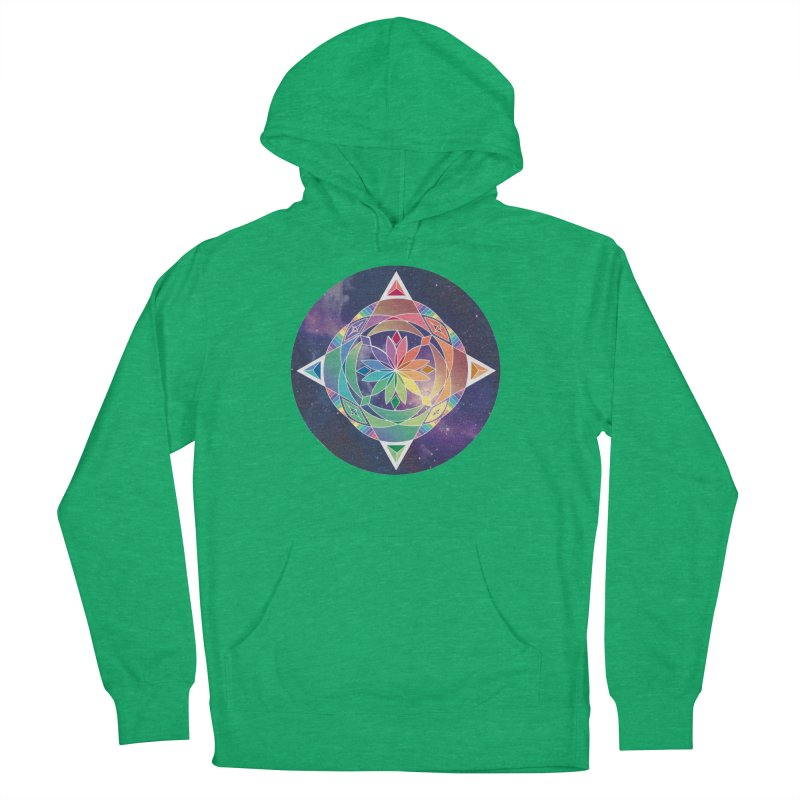 Space Unicorn Women's Pullover Hoody by Graphic Art by Sarah Sorden