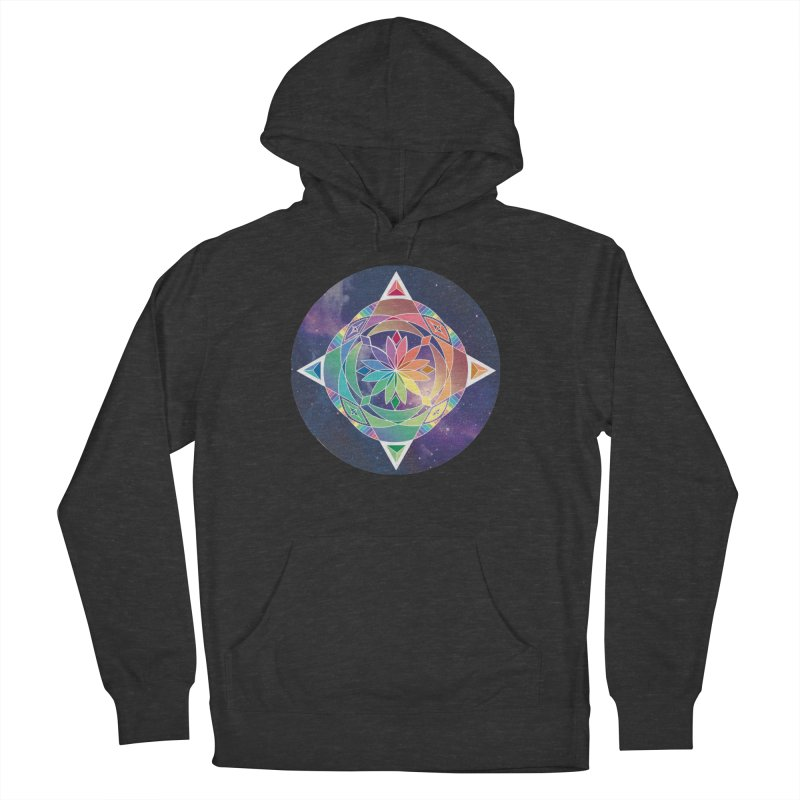 Space Unicorn Men's Pullover Hoody by Graphic Art by Sarah Sorden