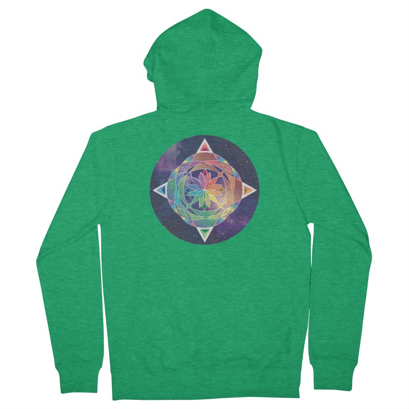 Space Unicorn Women's Zip-Up Hoody by Graphic Art by Sarah Sorden
