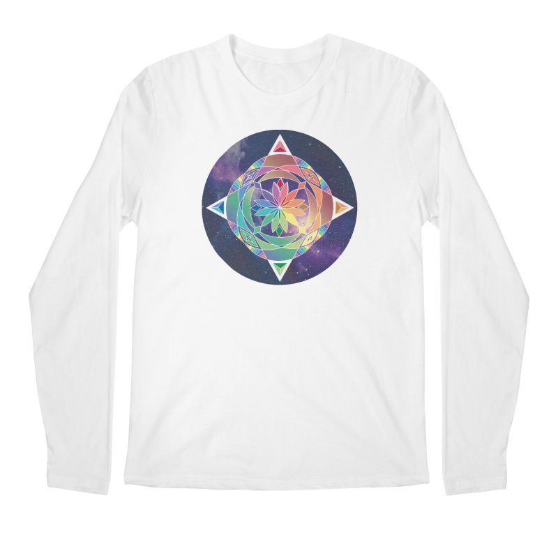 Space Unicorn Men's Longsleeve T-Shirt by Graphic Art by Sarah Sorden