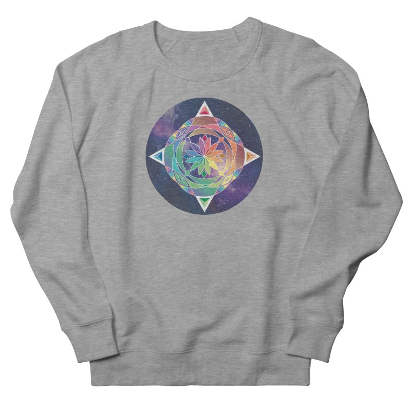 Space Unicorn Men's Sweatshirt by Graphic Art by Sarah Sorden