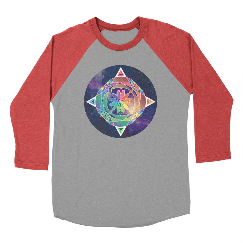 Space Unicorn Women's Baseball Triblend T-Shirt by Graphic Art by Sarah Sorden