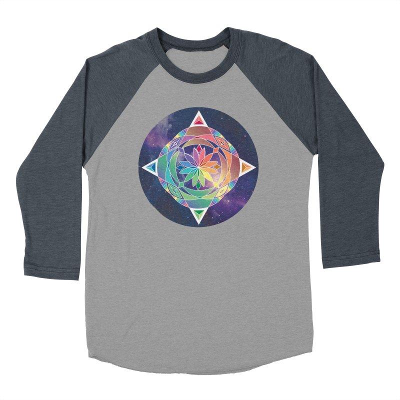 Space Unicorn Women's Baseball Triblend T-Shirt by Graphic Art by Sarah Sorden