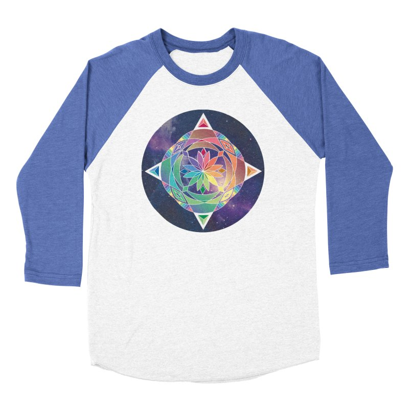 Space Unicorn Men's Baseball Triblend T-Shirt by Graphic Art by Sarah Sorden