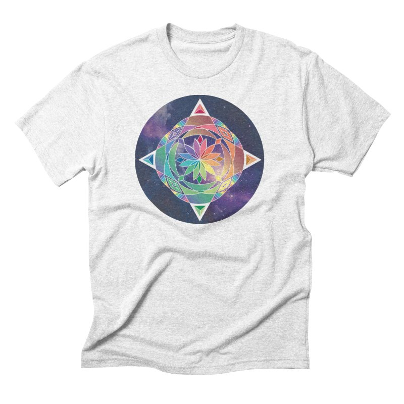 Space Unicorn Men's Triblend T-shirt by Graphic Art by Sarah Sorden