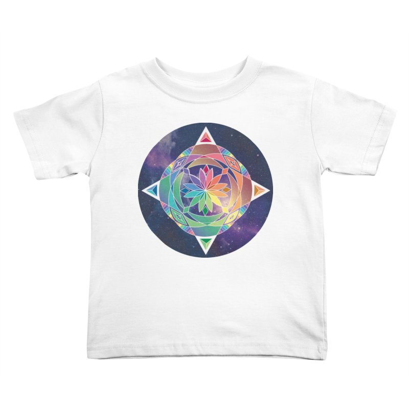 Space Unicorn Kids Toddler T-Shirt by Graphic Art by Sarah Sorden