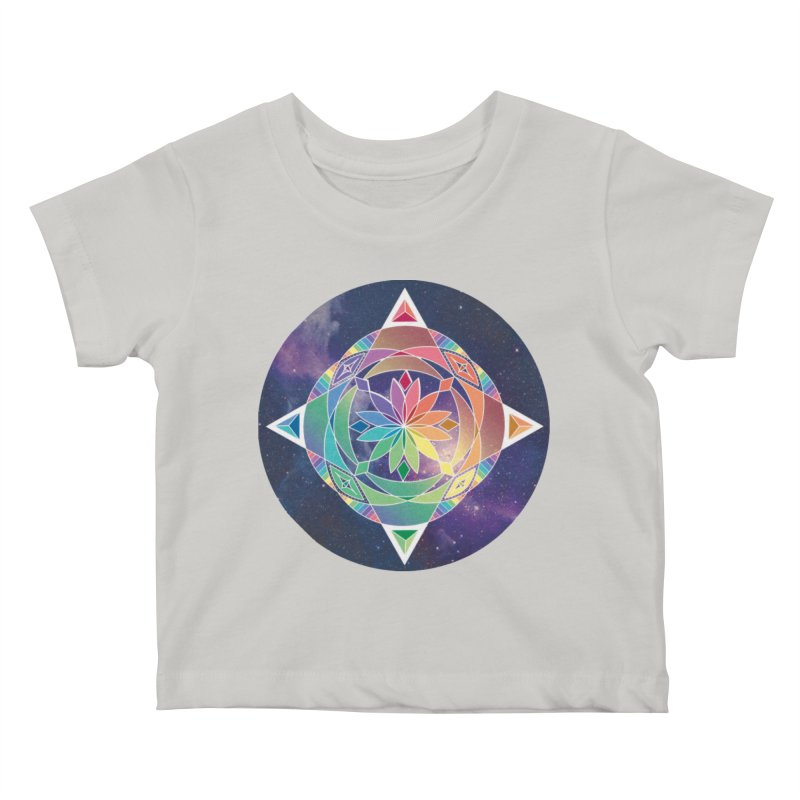 Space Unicorn Kids Baby T-Shirt by Graphic Art by Sarah Sorden