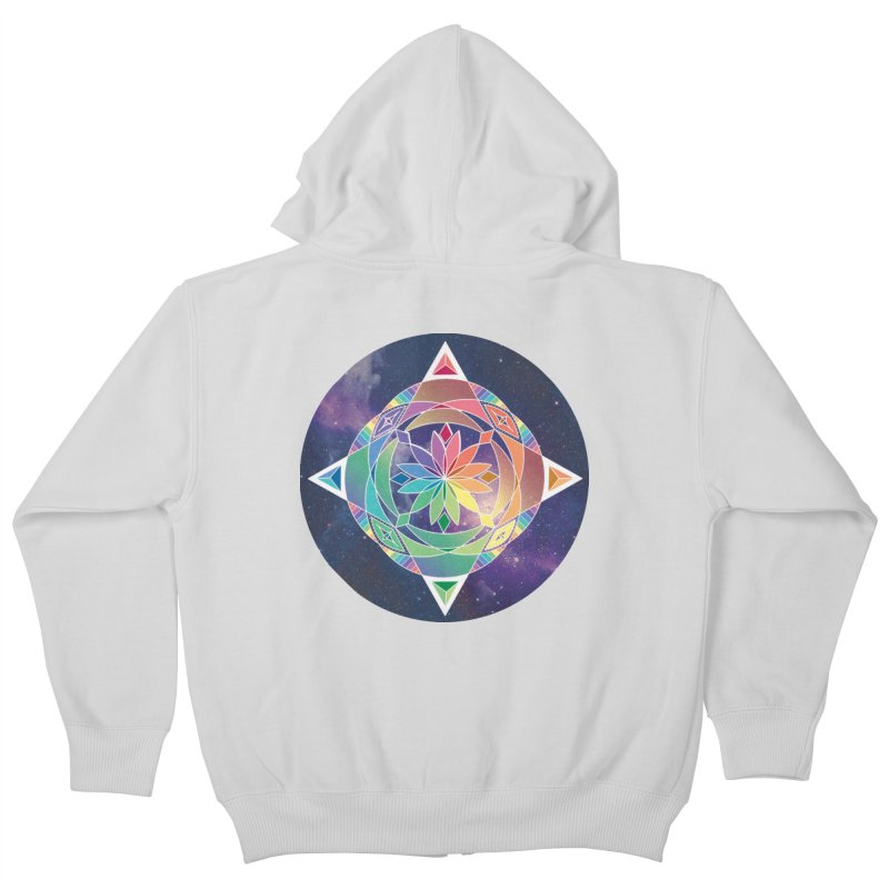 Space Unicorn Kids Zip-Up Hoody by Graphic Art by Sarah Sorden