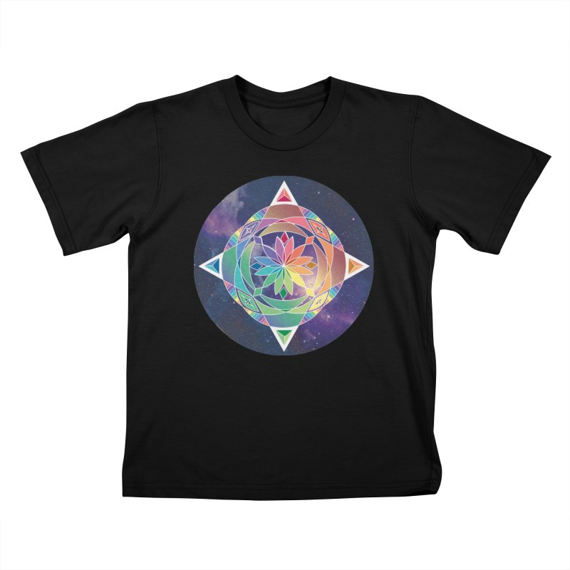 Space Unicorn Kids T-Shirt by Graphic Art by Sarah Sorden