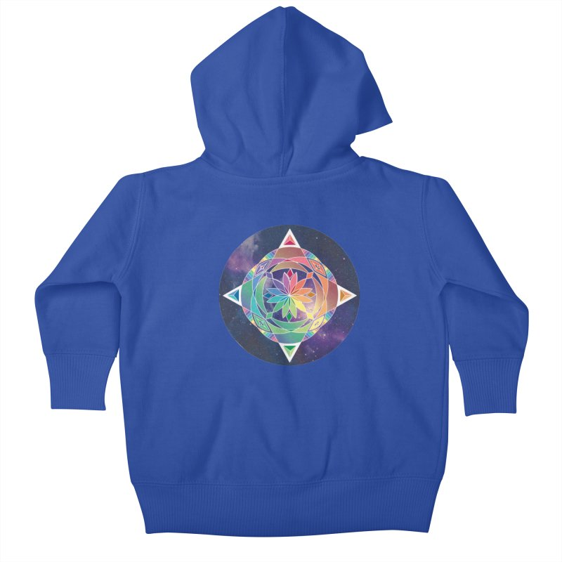 Space Unicorn Kids Baby Zip-Up Hoody by Graphic Art by Sarah Sorden