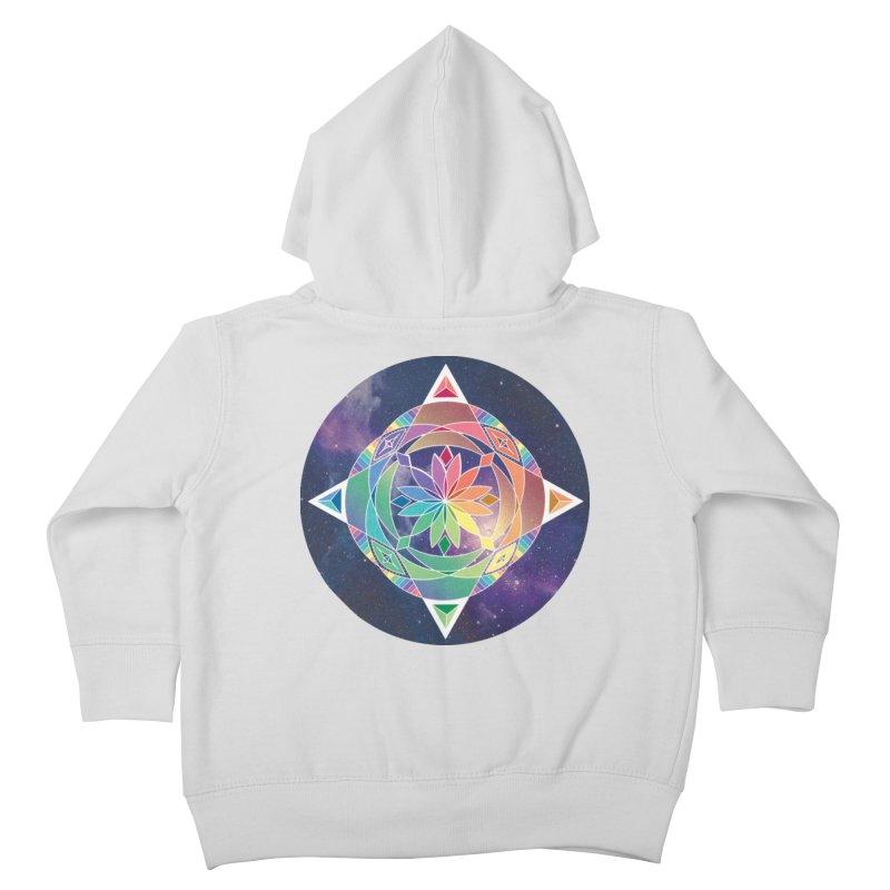 Space Unicorn Kids Toddler Zip-Up Hoody by Graphic Art by Sarah Sorden