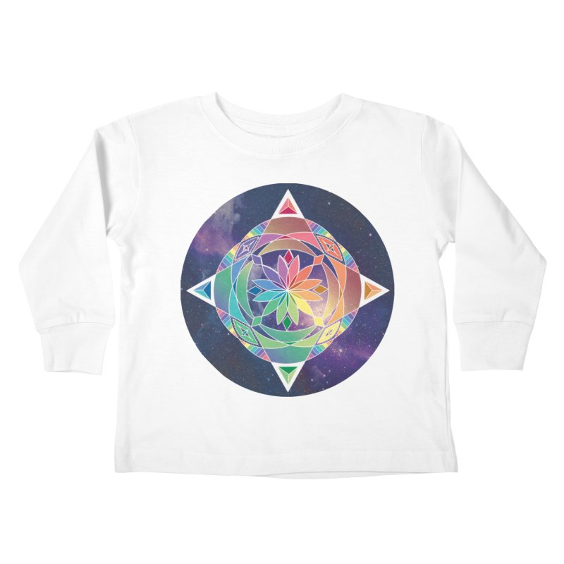 Space Unicorn Kids Toddler Longsleeve T-Shirt by Graphic Art by Sarah Sorden