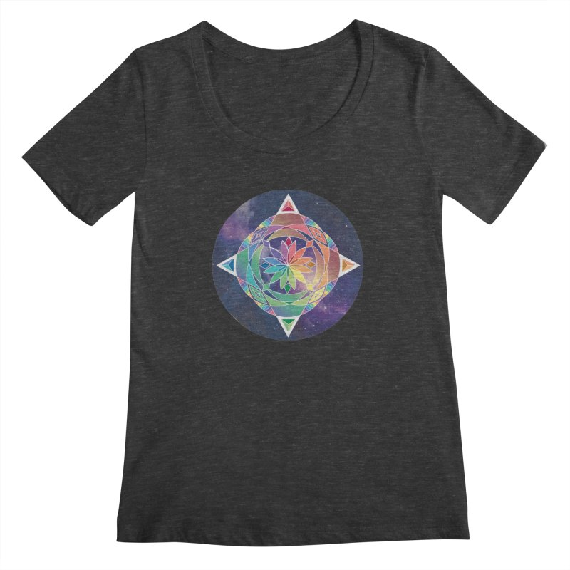 Space Unicorn Women's Scoopneck by Graphic Art by Sarah Sorden