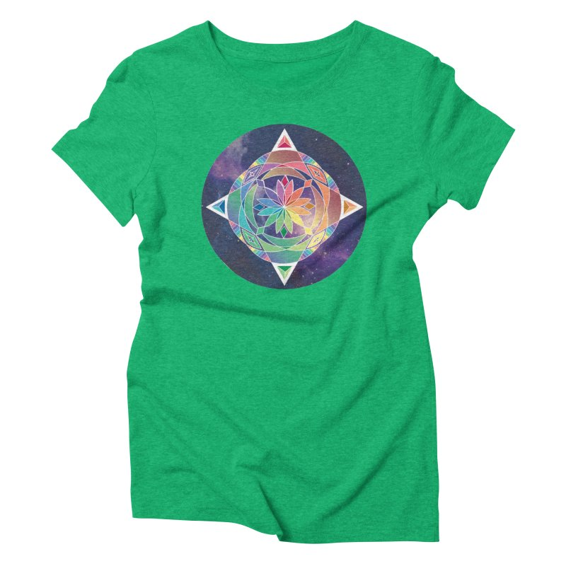 Space Unicorn Women's Triblend T-shirt by Graphic Art by Sarah Sorden
