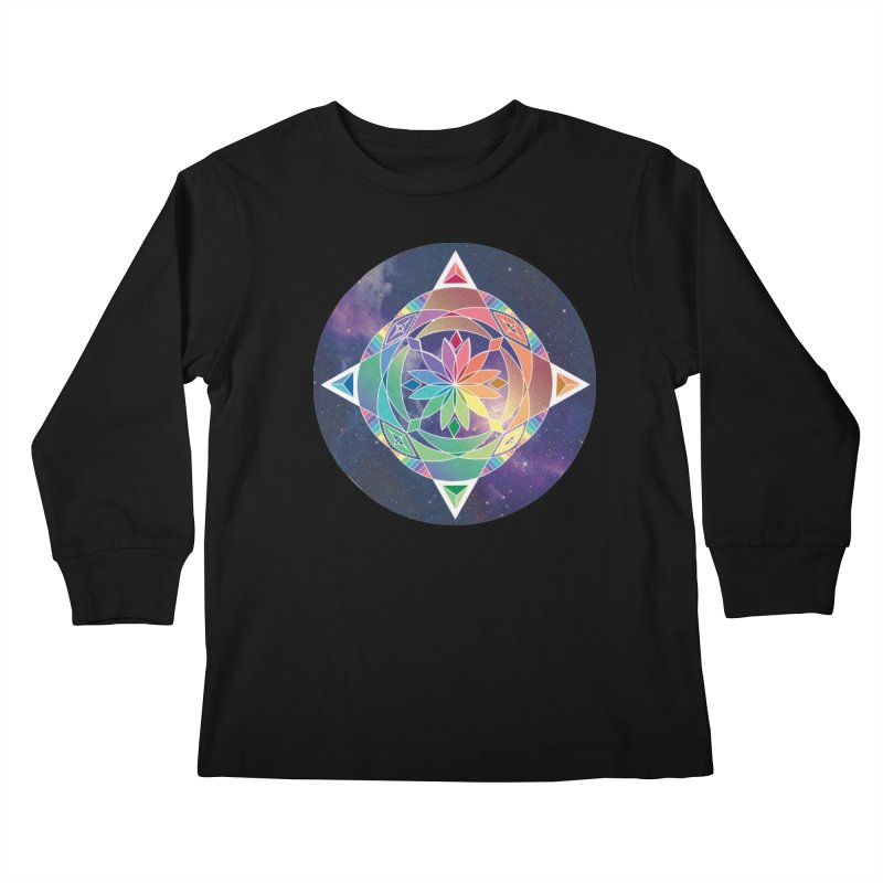 Space Unicorn Kids Longsleeve T-Shirt by Graphic Art by Sarah Sorden